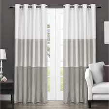 Curtains Images Decor Rugs Curtains White And Gray Blackout Curtains For Beautiful