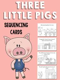pigs sequencing cards prekinders