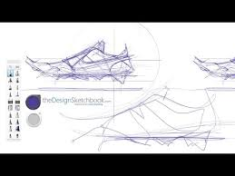 how to sketch a nike shoe with happy accident design sketching