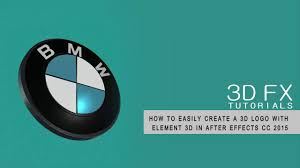logo bmw 3d how to create a bmw 3d logo in element 3d after effects cc 2015