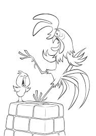 pictures chicken little suprised coloring page disney chicken