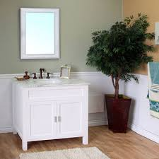 Bellaterra Home W Bathroom Vanity White White Marble - Bella 48 inch bathroom vanity white