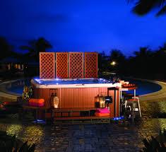 exterior design comfortable bullfrog spas for exciting backyard