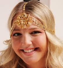 gold headpiece gold chain headpiece trendy mods