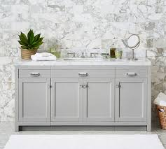 Console Sinks Bathroom Davis Single Wide Sink Console With Doors Pottery Barn