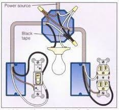 light with outlet 2 way switch wiring diagram home pinterest