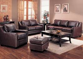 Traditional Sofa Sets Living Room by Brown Leather Living Room Set With Wooden Coffee Table Home