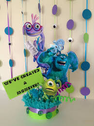 monsters inc baby shower decorations monsters inc baby shower centerpiece baby shower centerpiece