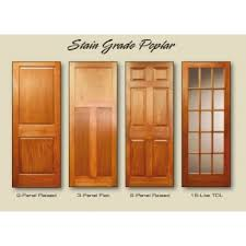 Interior Door Stain Poplar Door U0026 3 Panel Reverse Tulip Poplar Door