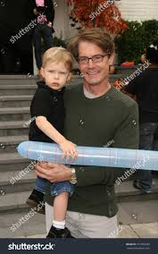 kyle maclachlan son callum pottery barn stock photo 101064280