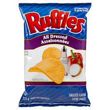 Ripple Chips Lay Ruffles Potato Chips All Dressed 220g