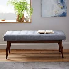 amazing contemporary upholstered bench fabric leather oak kamn