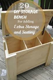 Garden Storage Bench Diy by Best 25 Storage Bench Seating Ideas On Pinterest Window Bench