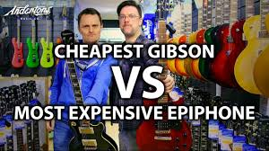 cheapest gibson vs most expensive epiphone a les paul challenge