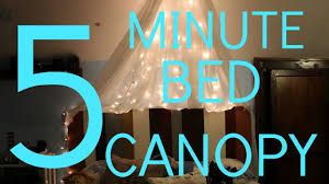How To Hang Curtains Around Bed by Diy Bed Canopy Fairy Lights Youtube