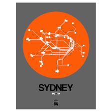 Sydney Subway Map by Sydney Subway Map Orange Subway City Maps Touch Of Modern