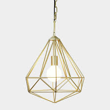 gold pendant light fixture decor of cage light pendant pertaining to interior decor pictures