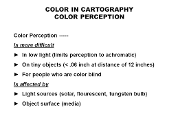 People Who Are Color Blind Color In Cartography Four Color Characteristics Important In