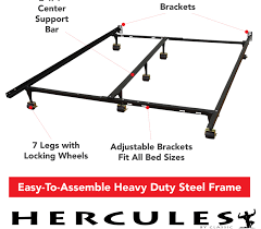 How To Assemble A Bed Frame Hercules Universal Adjustable Metal Bed Frame