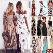 multi print maxi dress ebay