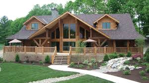 large front porch house plans log home design plan and kits for big sky
