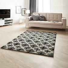 Wohnzimmer Teppiche Modern Teppich Schwarz Weiß Grau Architektur Teppich Schwarz Weiß Grau