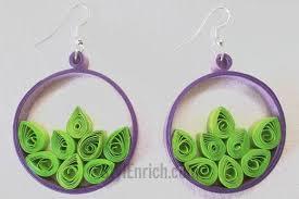 hip earrings hip hoop quilled paper earrings allfreepapercrafts