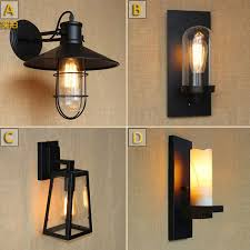 Edison Bulb Wall Sconce Antique Matte Black Lantern Outdoor Wall L Sconce Ac 90 260v