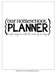 printable homeschool daily planner 7 best images of printable daily planner cover page printable