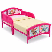 girls toddler bed paw patrol skye and everest pink bedroom