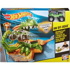 mini monster jam truck toys wheels monster jam dragon blast challenge play set walmart com