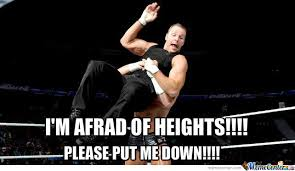 Dean Ambrose Memes - dean ambrose is afraid of heights by captainbonte meme center