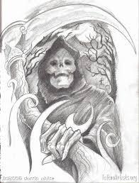 collection of 25 grim reaper skull on shoulder