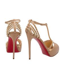 christian louboutin gold patispiky 120 leather sandals for women
