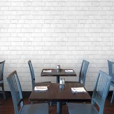 brick white textured self adhesive wallpaper design by tempaper