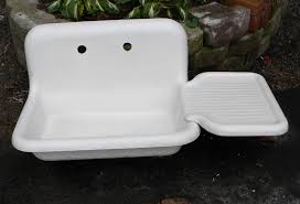 Antique Porcelain Kitchen Sink Antique Utility Sink Now I What The Holes On My Utility Sink
