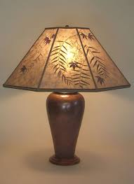 large copper table lamp pepper u0026 red maple leaves mica lamp shade