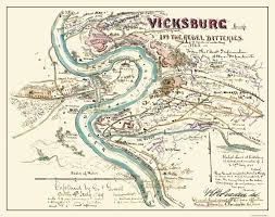 Map Of The Mississippi River Civil War Map Vicksburg Mississippi Rebel Battle 1863