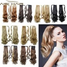 ponytail hair extensions 22 synthetic hair wavy clip in ribbon ponytail hair