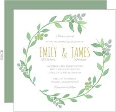 wedding invitations greenery greenery wreath watercolor wedding invitation wedding