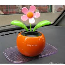 home decorating solar power flower plants moving dancing flowerpot