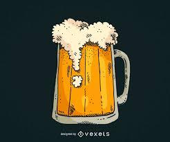 beer glass svg hand drawn beer mug vector download