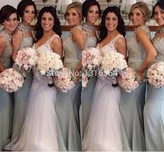 silver bridesmaid dresses aliexpress buy top selling mermaid satin silver