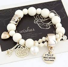 pearl bracelet elastic images Buy new arrival fashion wrap cuff charms crystal jpg