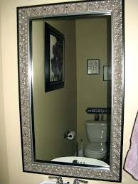 Frame Bathroom Mirror Kit Bathroom Mirror Frame Kit Lowes For Modern Black Affordable Frames