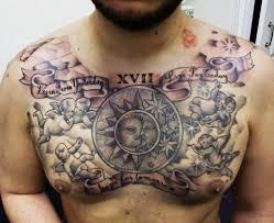 christian chest tattoos design for