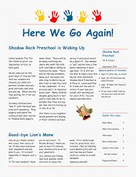 news letter march preschool example professional resumes sample