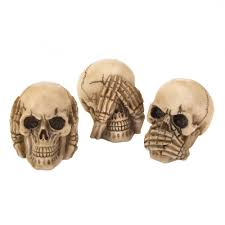 wholesale funny human skulls see no evil hear no evil speak no