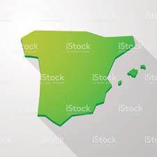 Espana Map Verde Icono De Mapa De España Illustracion Libre De Derechos