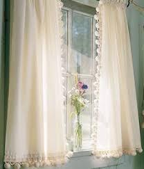 Curtains 100 Length Pair Linen Pom Pom Sheer Curtain 52 U0027 U0027 Choose Your Length Two